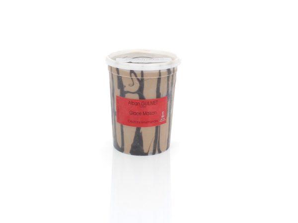 Pot glace chocolat